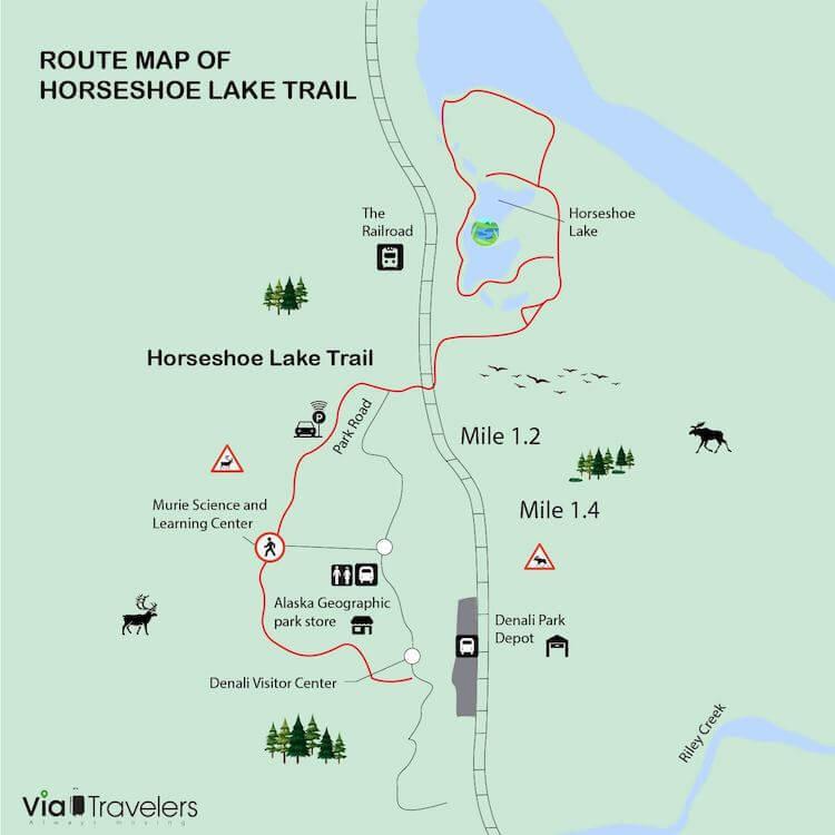 Horseshoe Lake Trail Map