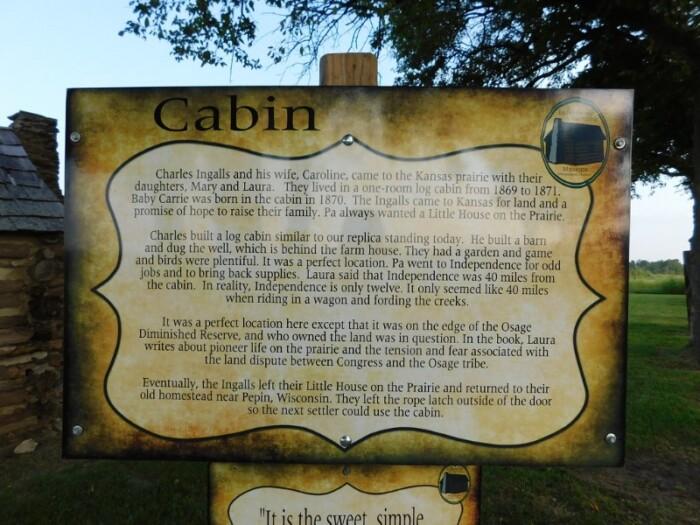 Laura Ingalls Log Cabin Sign