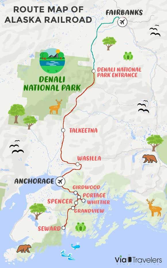 Alaska Railroad Map