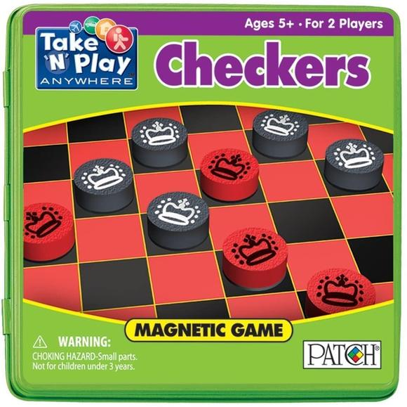 product packaging of Take N Play Checkers