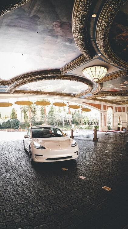 Tesla in Front of The Venetian