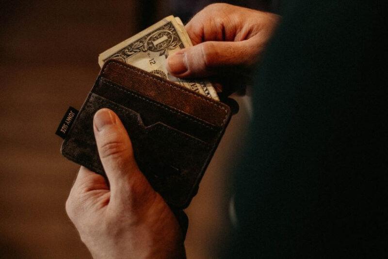 Wallet and Paper Bills