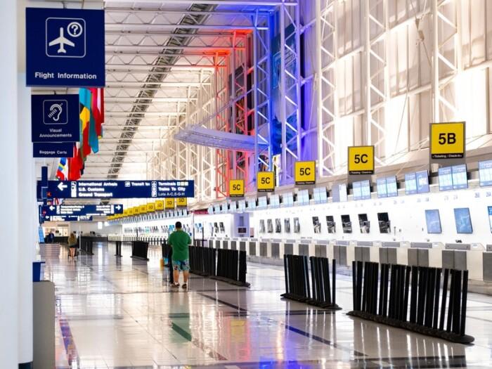 a snapshot inside an airport