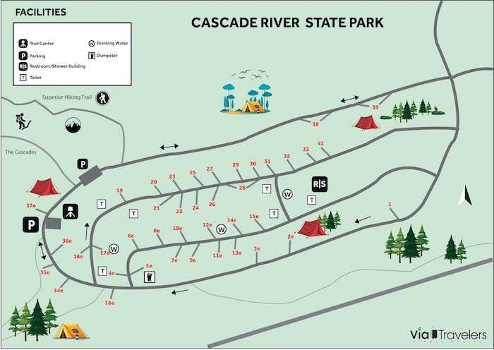 Cascade River State Park Map - Minnesota
