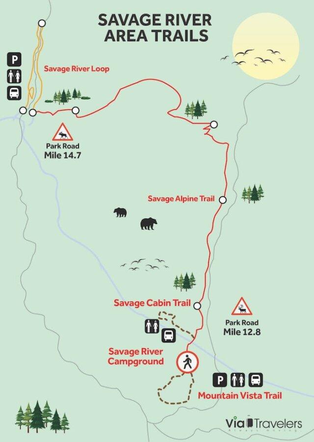 Savage River Trail Map Denali
