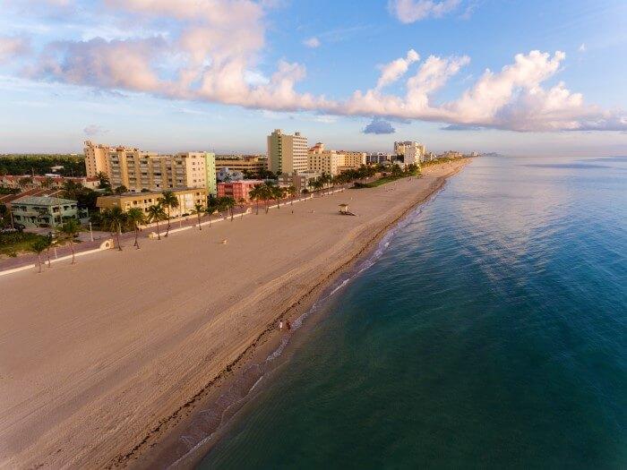 Aerial view of South Beach Miami
