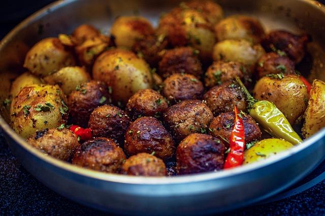 a bowl of swedish meatballs