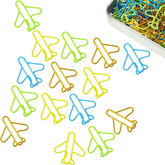 80 Pieces Airplane Paper Clips