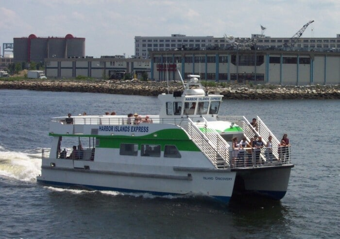 a ferry part of the Boston Harbor Cruises