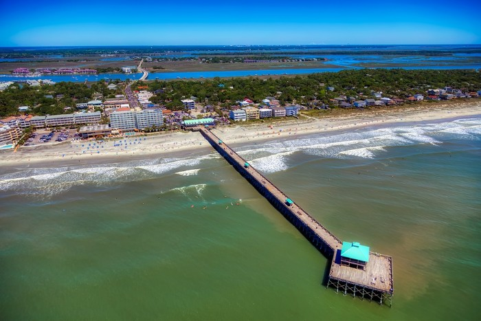 Charleston Folly Pier Beach