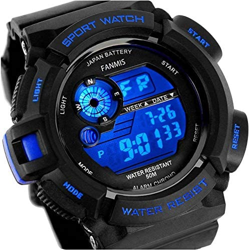 Fanmis Mens Multifunction Digital LED Watch