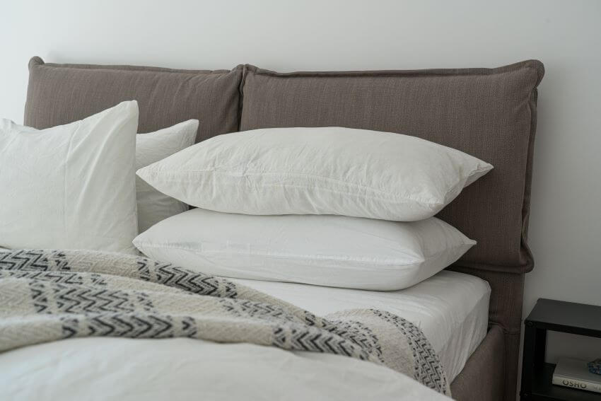 Hotel Bed with Pillows