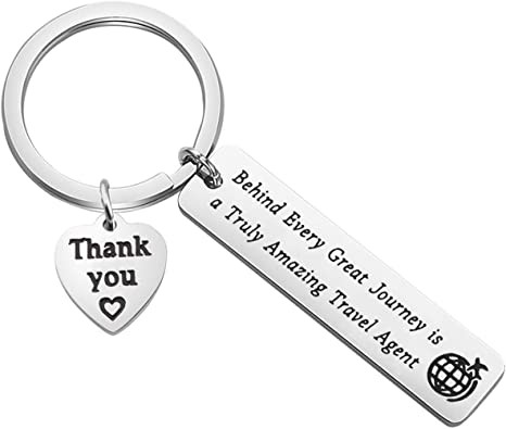 MAOFAED Keychain Travel Agent Gift