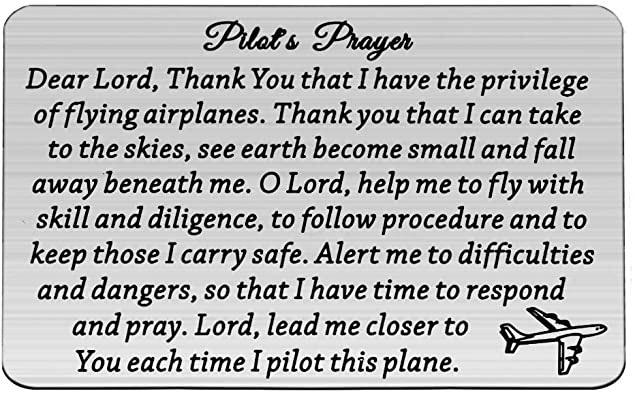 MAOFAED Pilot Gift Poilt's Prayer Wallet Card