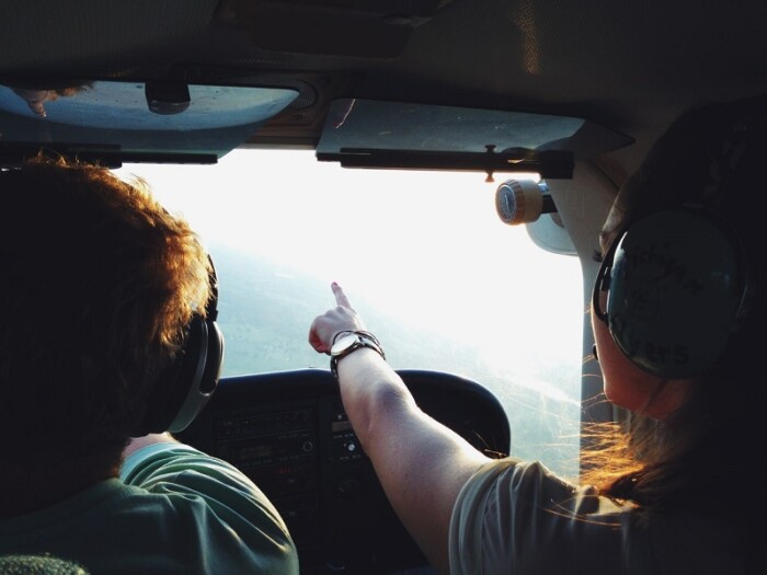Pilots pointing