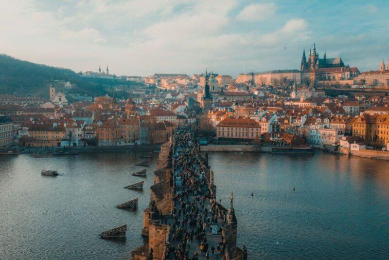 Prague Overlooking view