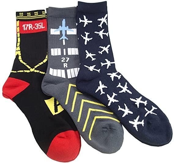 Aviation-Themed Premium Crew Socks