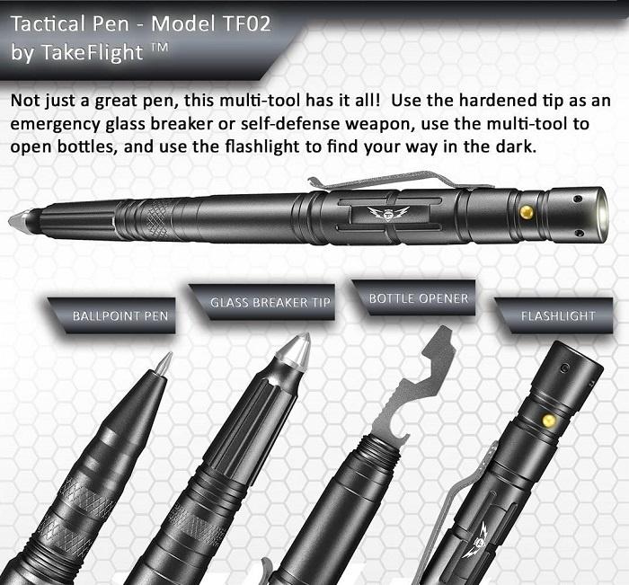 TAKEFLIGHT Tactical Pen Survival Gear