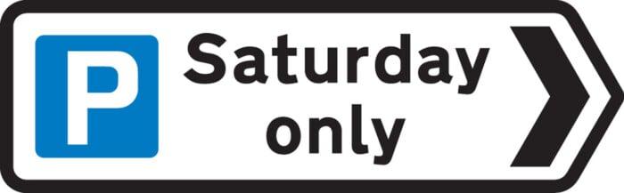 UK Saturday parking