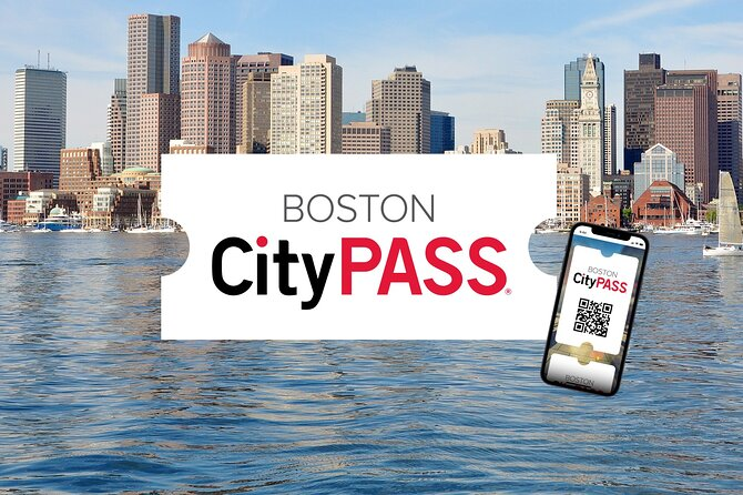 logo of the citypass with Boston as background