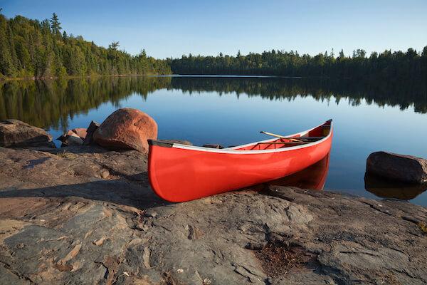Boundary Waters Canoe in Minnesota