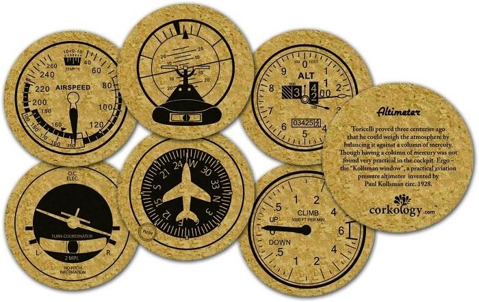 gifts for pilots Corkology Aviation Set