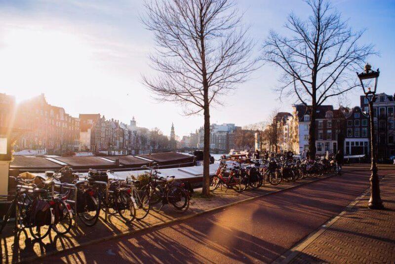 Bikes in Amsterdam, Netherlands