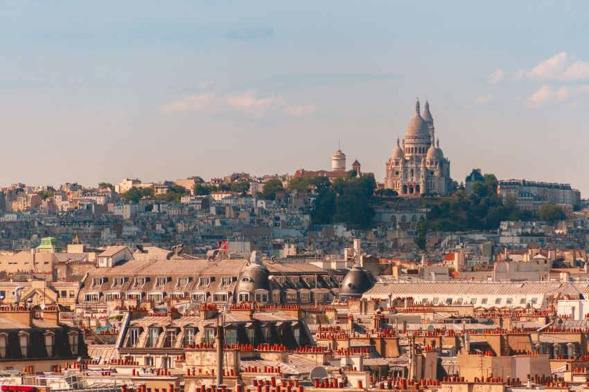 View of Sacre Couer in Paris