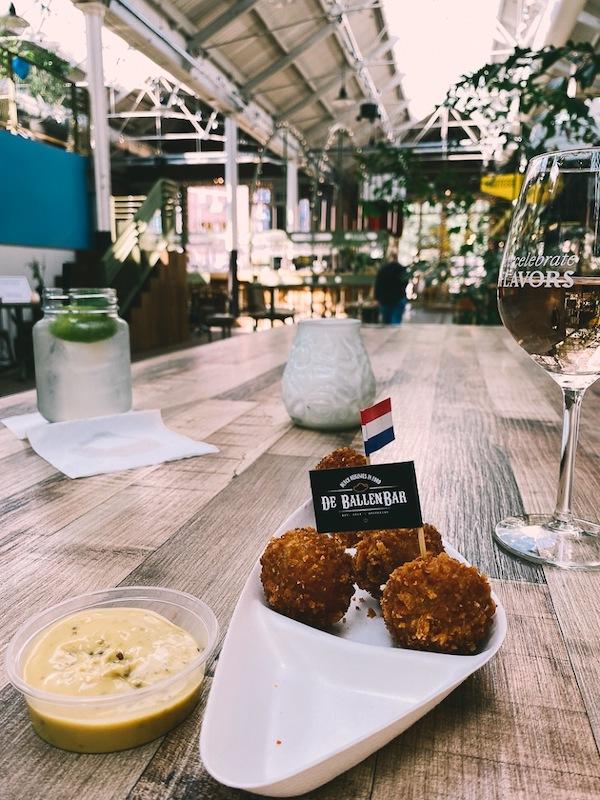 Bitterballen at The Foodhallen Amsterdam