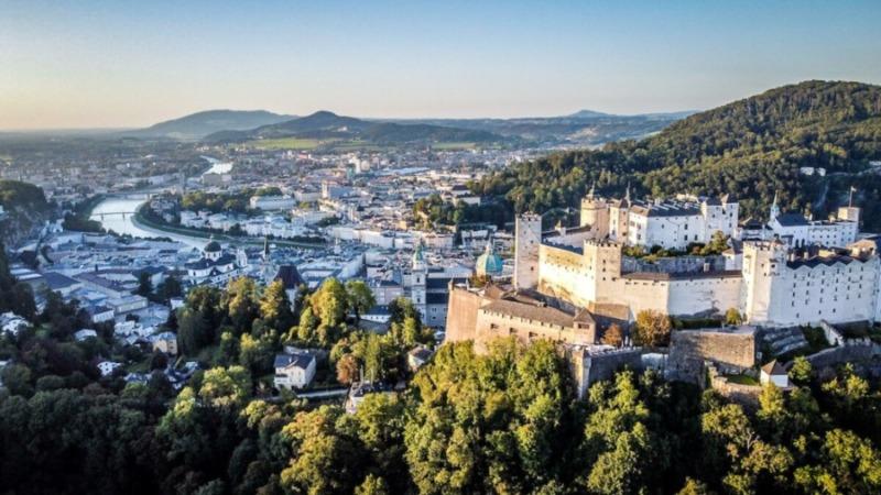 Hohensalzburg Fortress Aerial