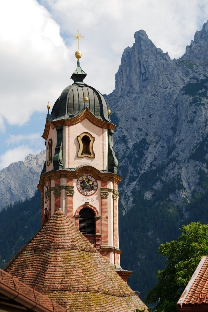 Old Church in Mittenwald Germany