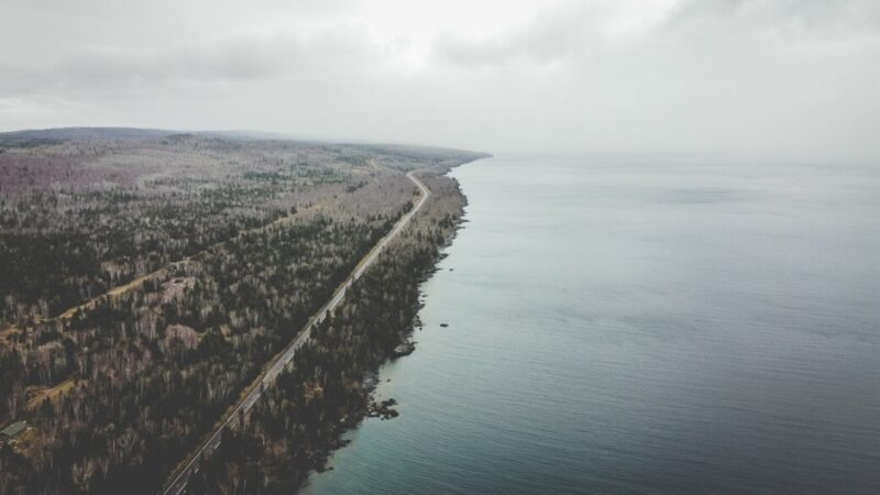 Aerial View of the North Shore in Minnesota