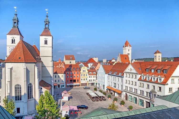 Old Market Square in Regensburg