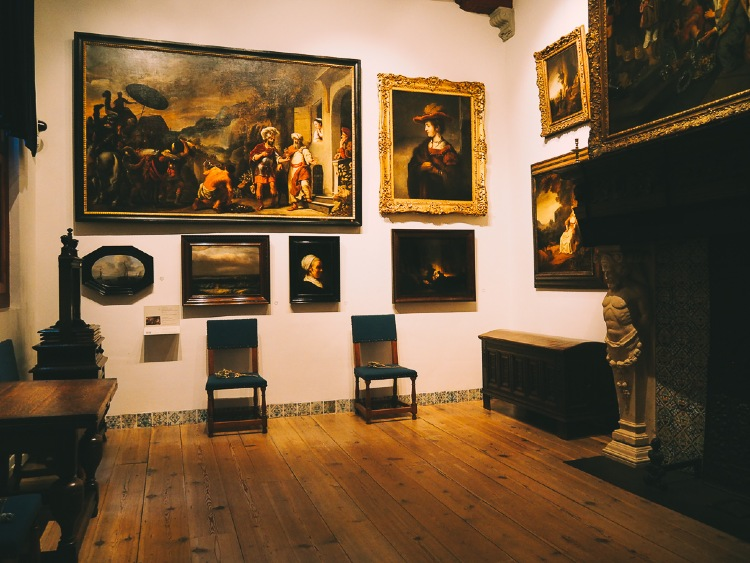 Interior of the Rembrandt House Museum (Rembrandthuis)